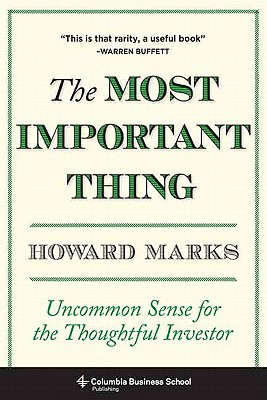 The Most Important Thing By Marks, Howard